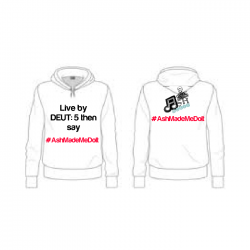 (1 to 10 units) Personalised #Ashmademedoit Hoodie (Adults & Kiddies)